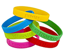 Silicone Wristbands Embossed - Debossed  by Gopromotional - we get your brand noticed!