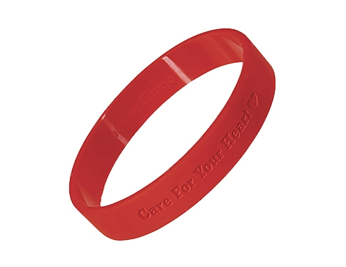 Silicone Wristbands - Debossed